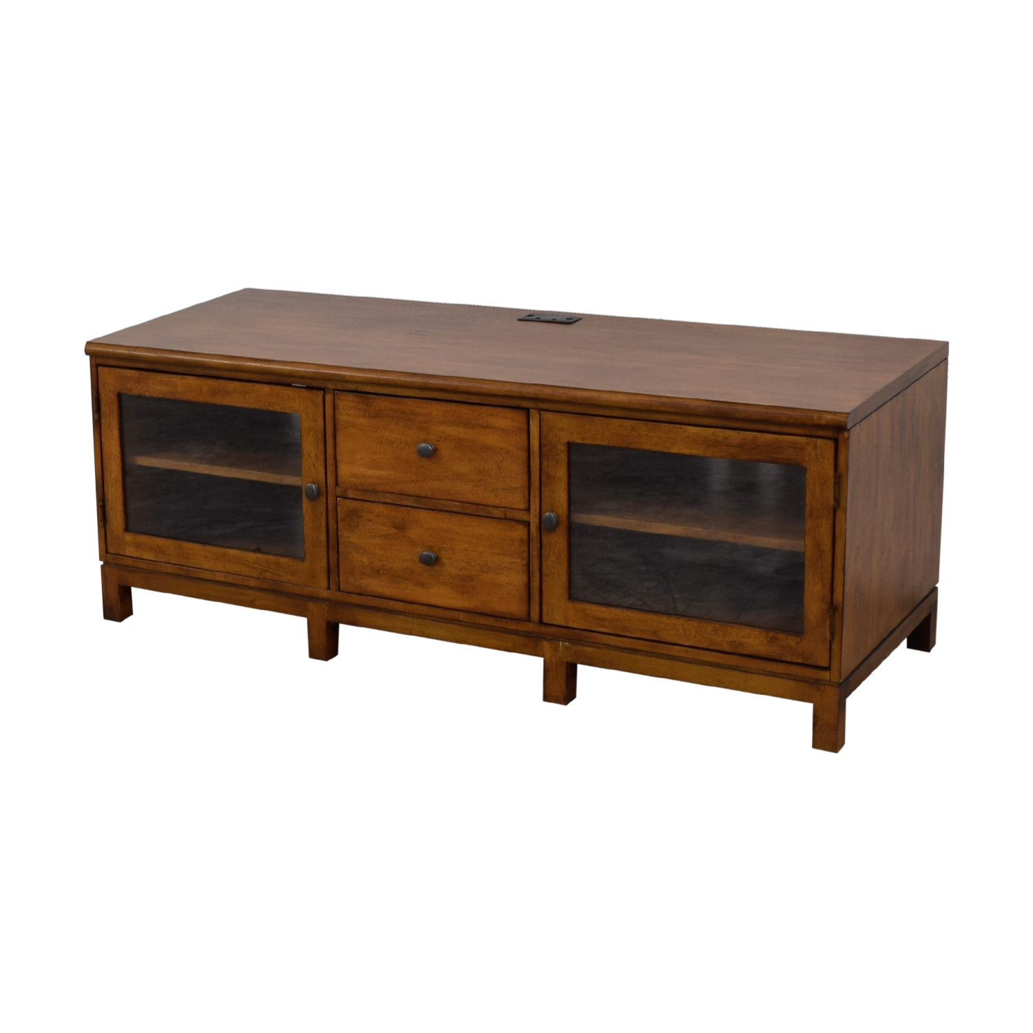 Ethan Allan Ethan Allen Wood Two-Drawer Buffet or Media Center nyc