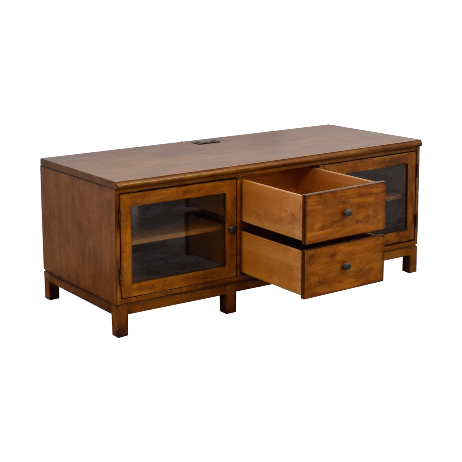 Ethan Allen Wood Two-Drawer Buffet or Media Center / Storage