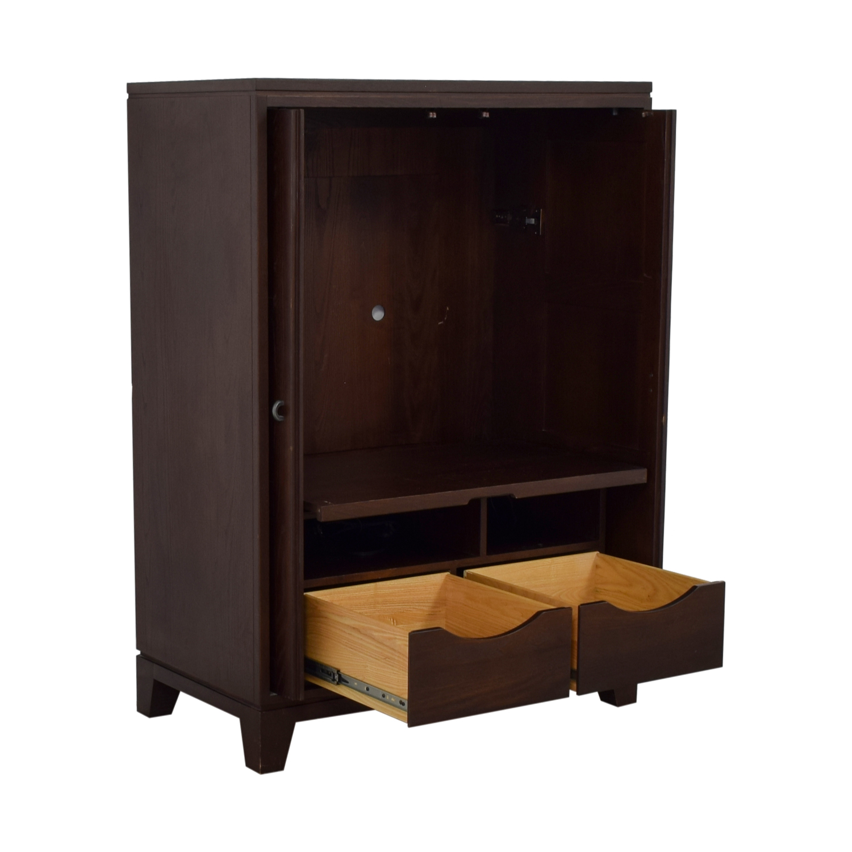 buy Ethan Allen Two-Drawer TV Cabinet Ethan Allen
