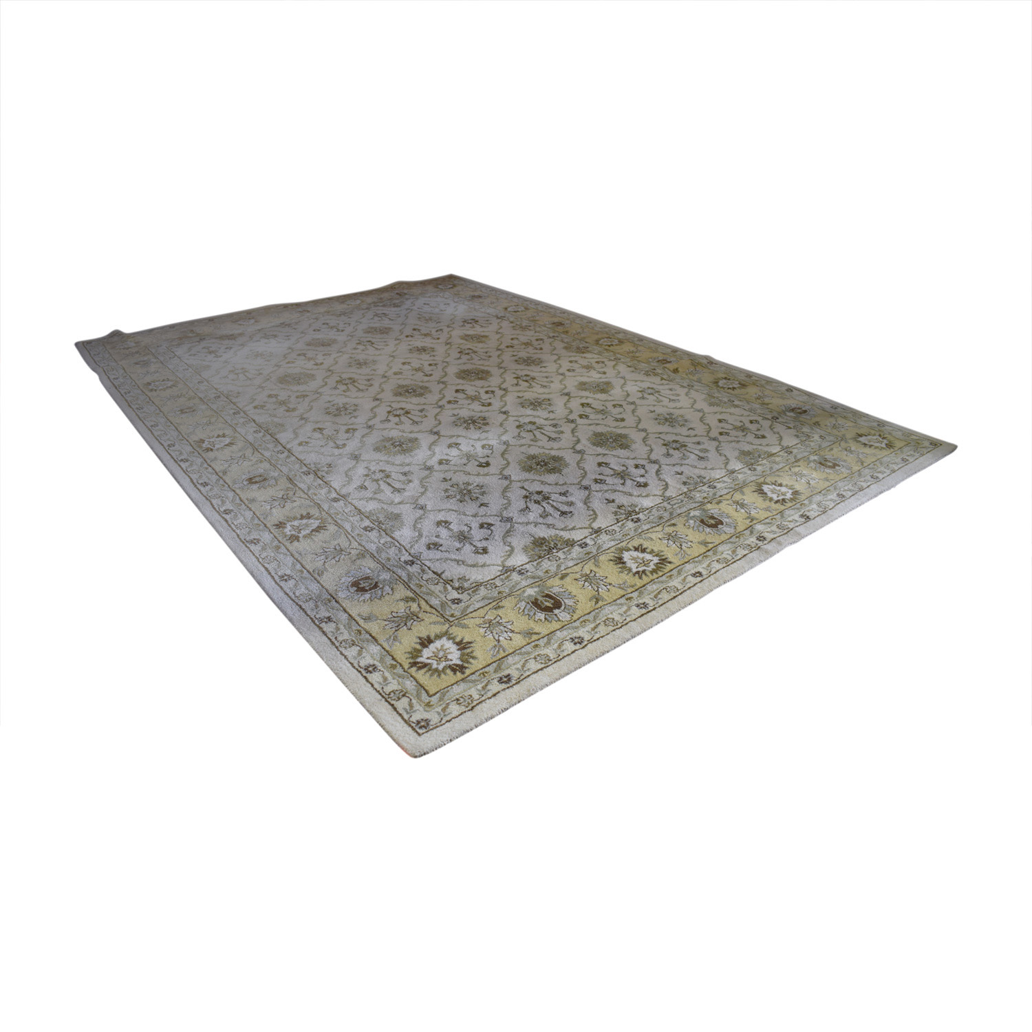 shop Home Decorators Westmoreland Beige and Gold Wool Rug Home Decorators