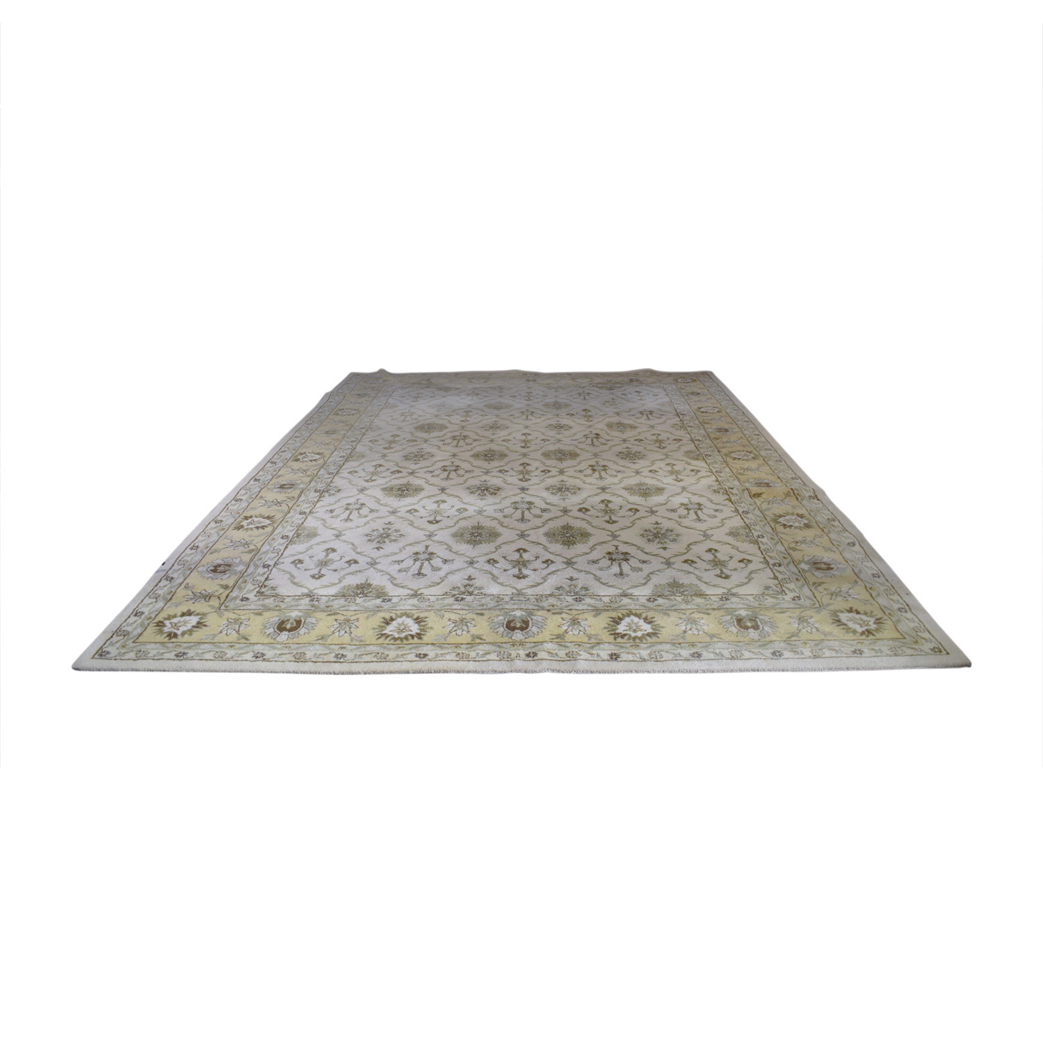 Home Decorators Home Decorators Westmoreland Beige and Gold Wool Rug on sale