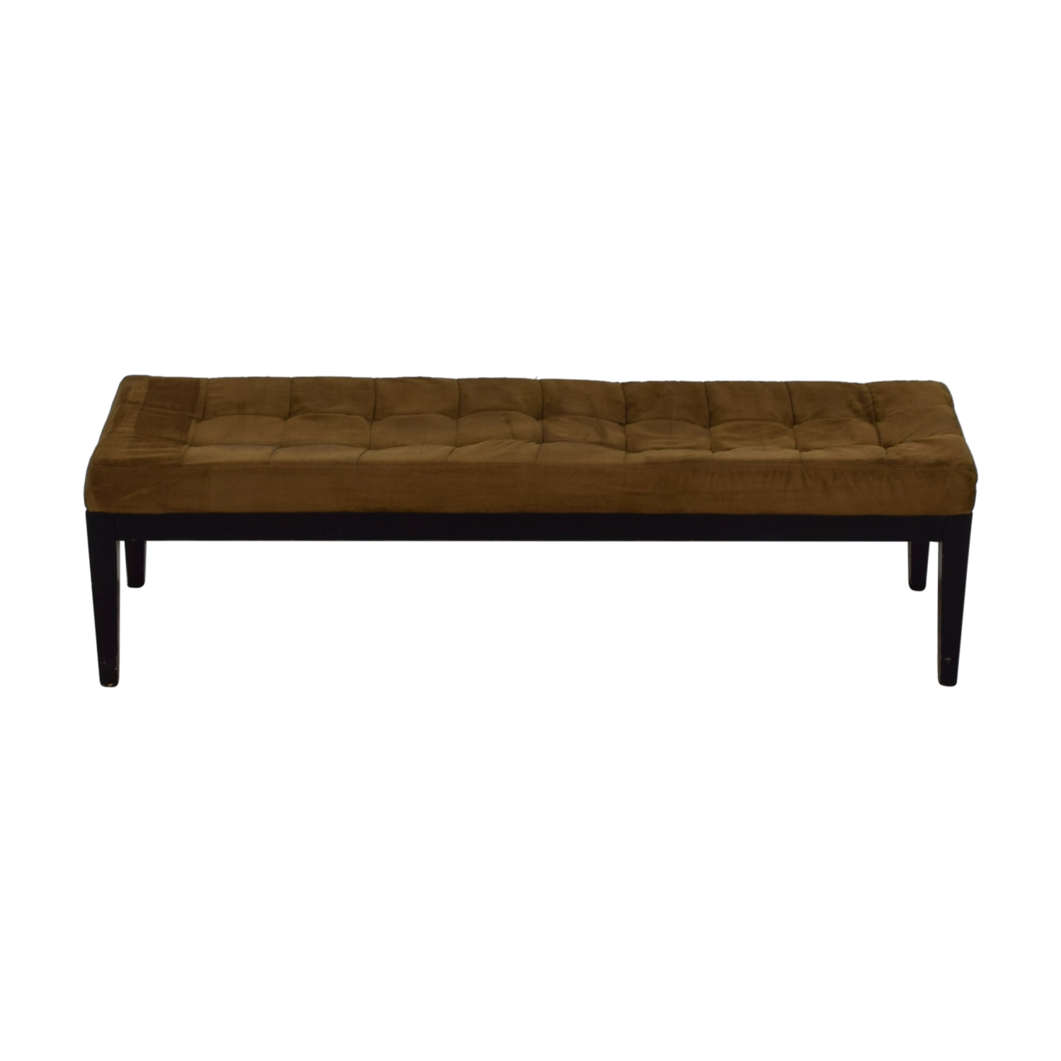 Brown Tufted Microfiber Bench second hand