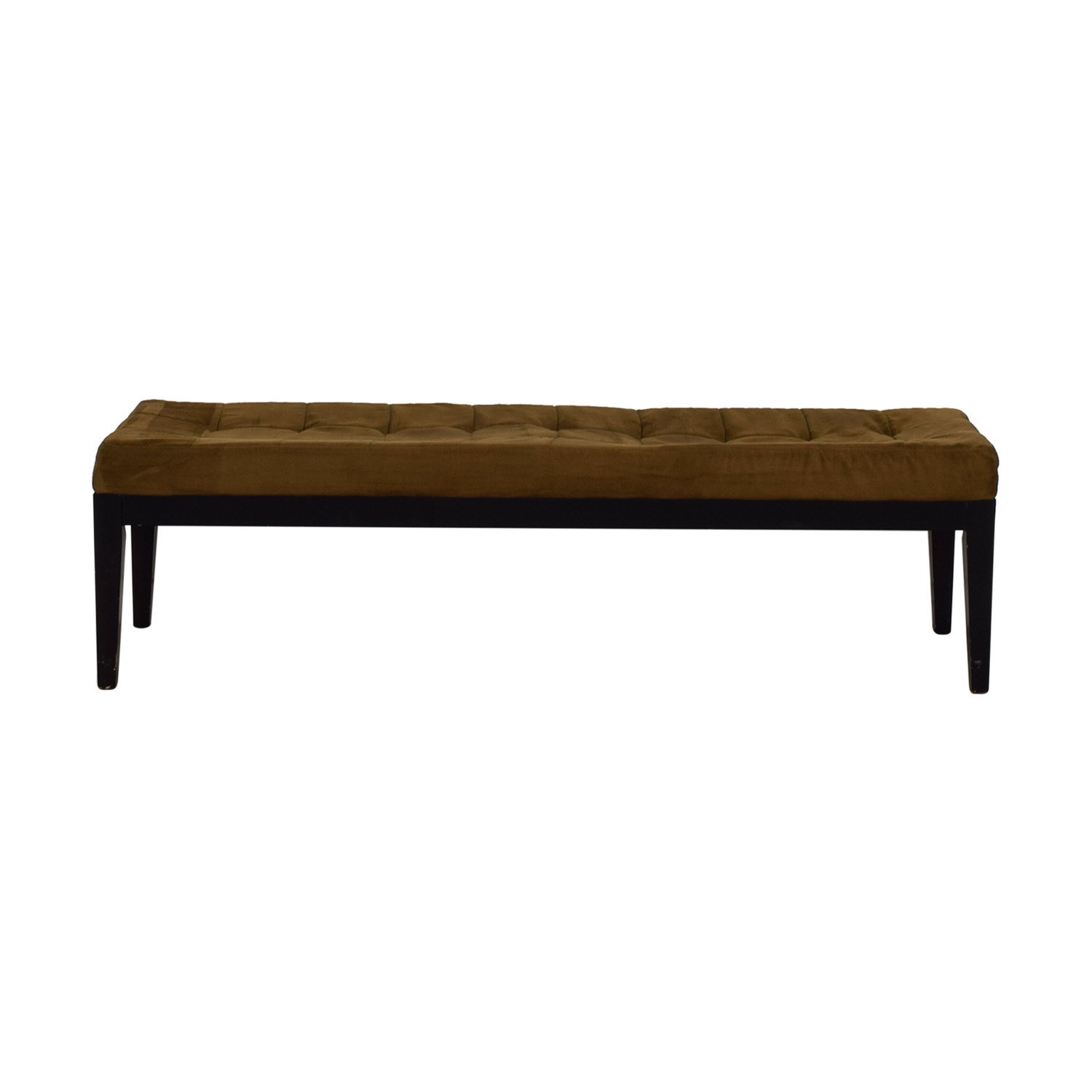 Brown Tufted Microfiber Bench discount