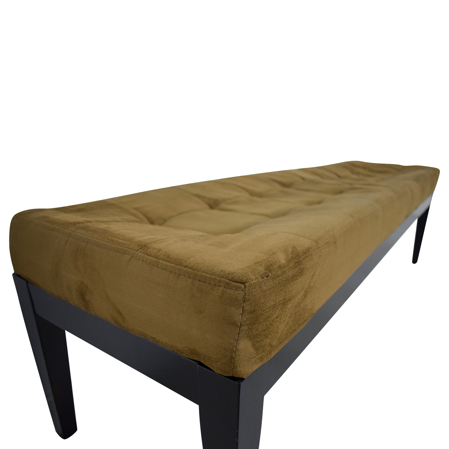 Brown Tufted Microfiber Bench / Benches