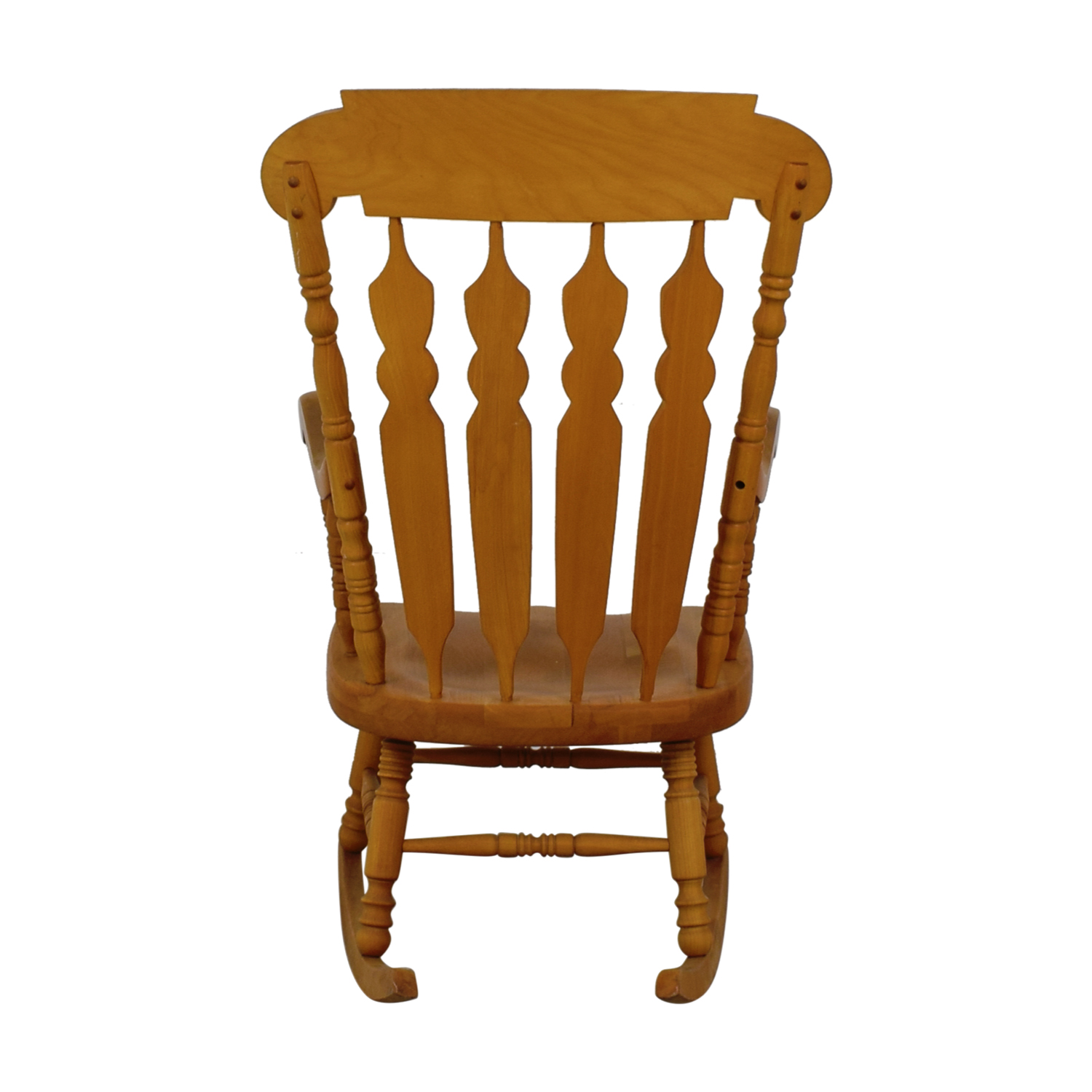 Grandfather Wood Windsor Carved Rocking Chair