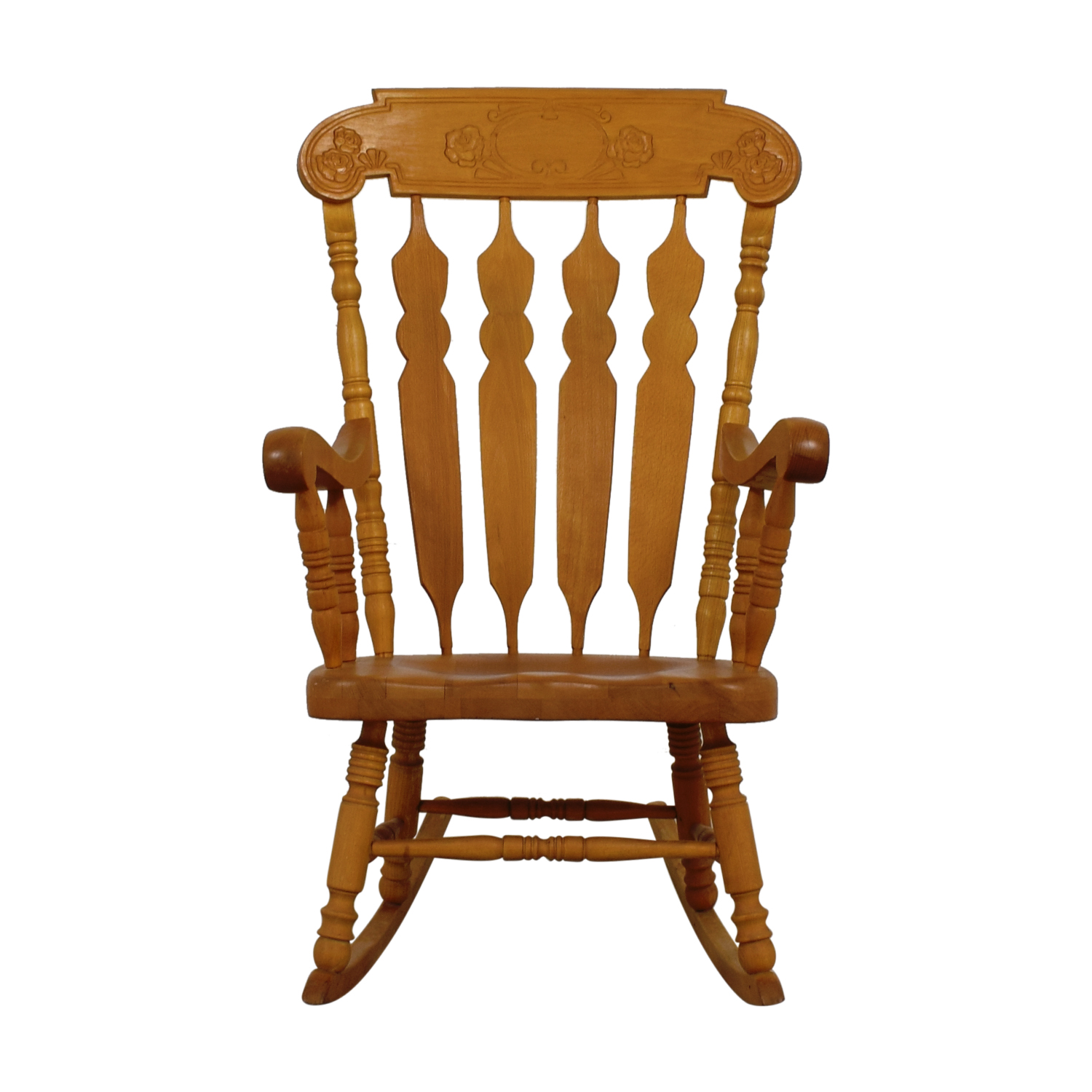 Grandfather Wood Windsor Carved Rocking Chair Chairs