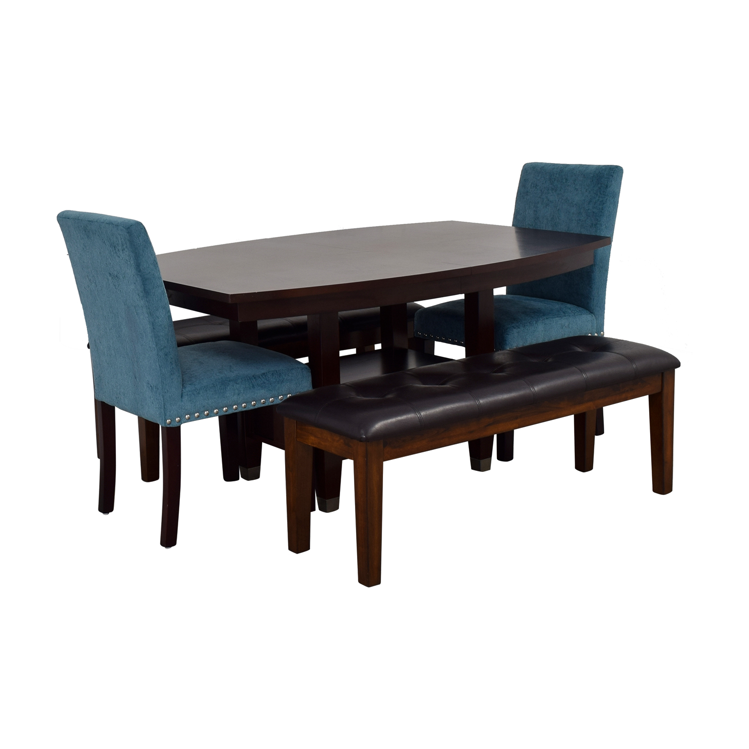 Excellent 78 Off Raymour Flanigan Raymour Flanigan Dining Set With Benches And Chairs Tables Theyellowbook Wood Chair Design Ideas Theyellowbookinfo