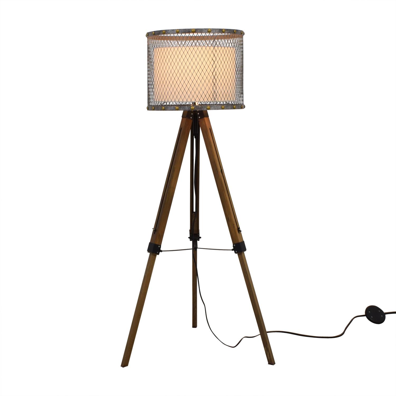 Tripod Industrial Floor Lamp multi