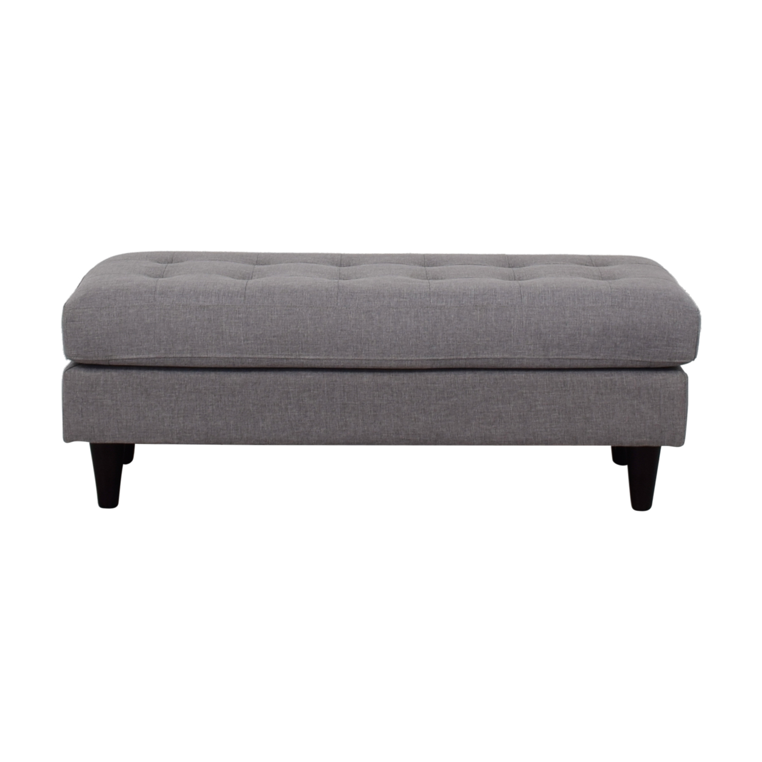 63% OFF - Modway Modway Grey Tufted Upholstered Bench / Chairs