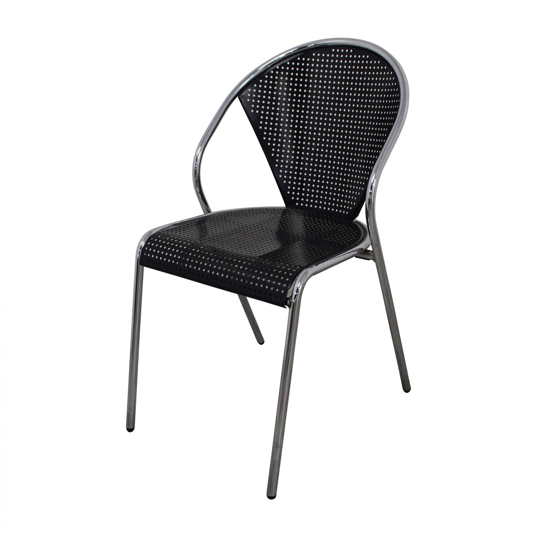 shop Manhattan Home Design Protech Black Steel Stacking Chairs Manhattan Home Design Sofas