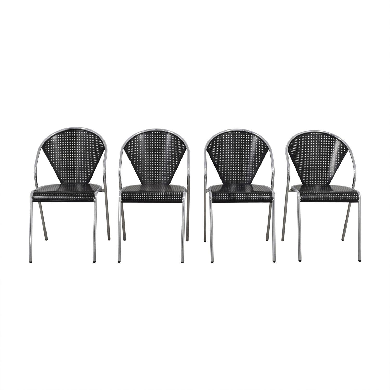 buy Manhattan Home Design Protech Black Steel Stacking Chairs Manhattan Home Design