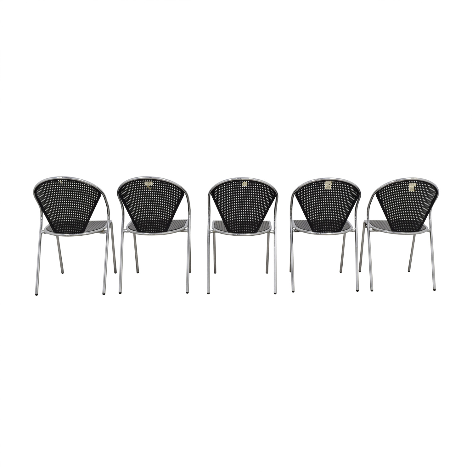 Manhattan Home Design Manhattan Home Design Protech Black Steel Stacking Chairs price