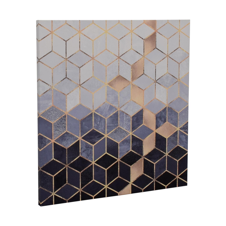 Elisabeth Fredrikson Soft Blue Cubes Print used