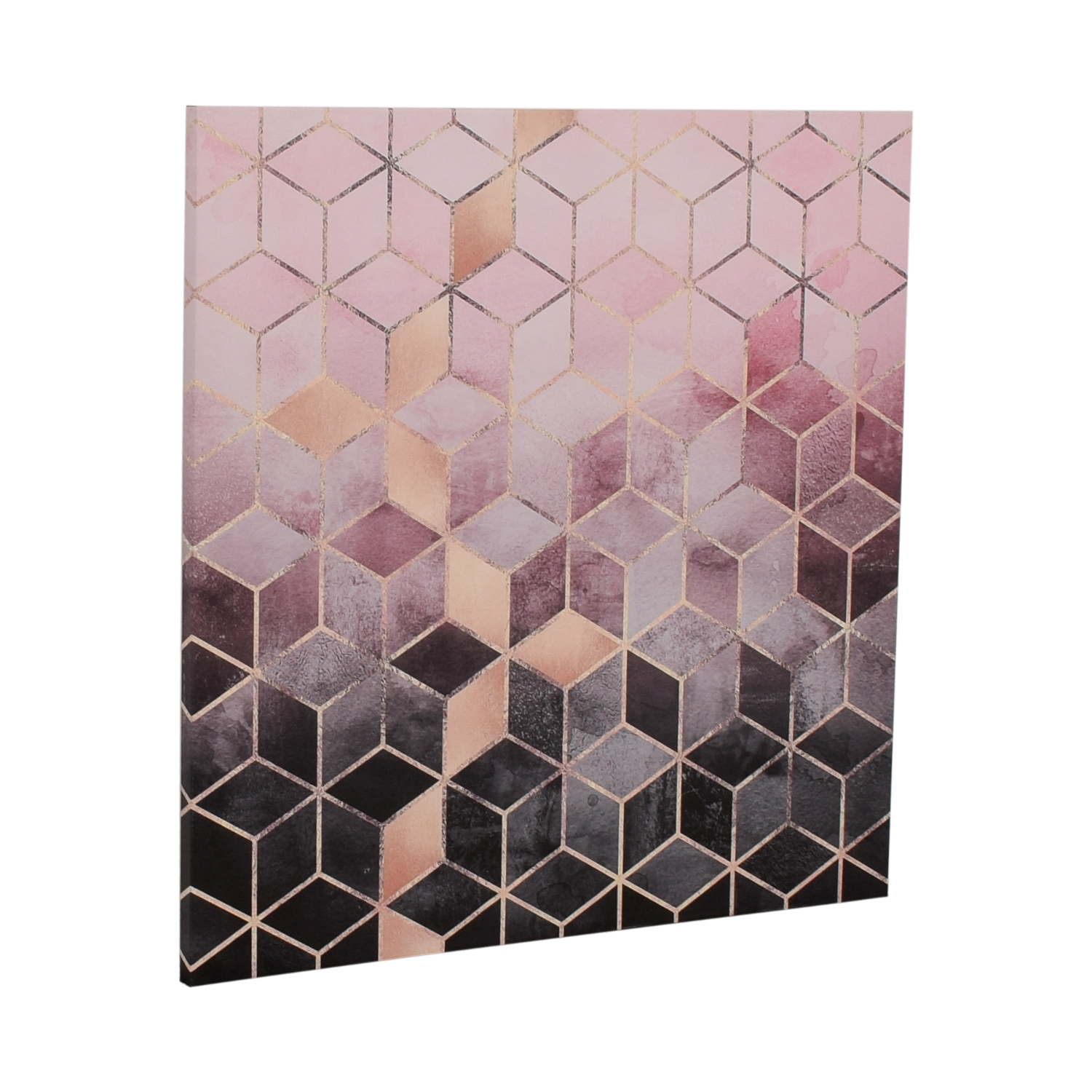 buy Elisabeth Fredrikson Pink and Grey Cubes Canvas Print  Decor