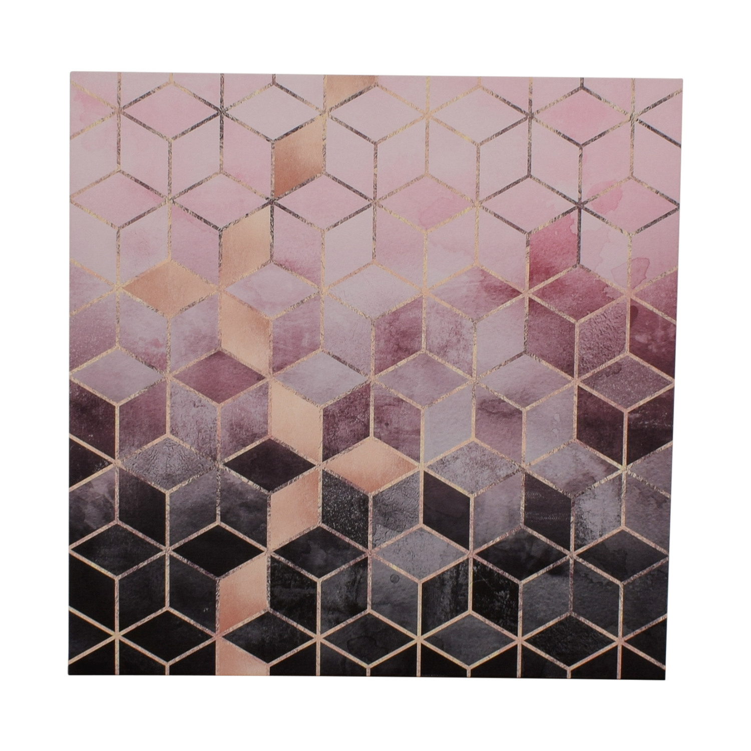 Elisabeth Fredrikson Pink and Grey Cubes Canvas Print sale