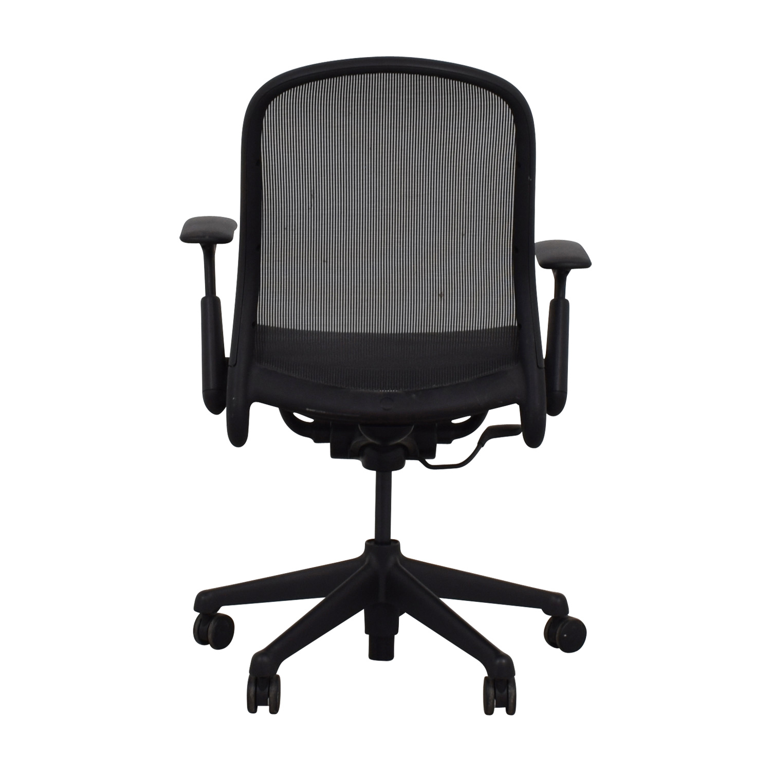 shop Knoll Black Rolling Office Chair Knoll