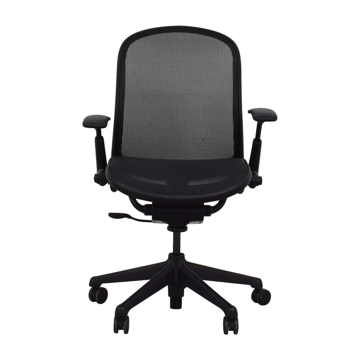 Knoll Black Rolling Office Chair Knoll