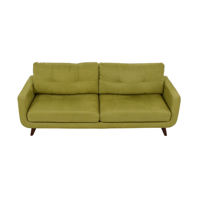 Kinwai Kinwai Walton Mid Century Yellow Green Sofa on sale