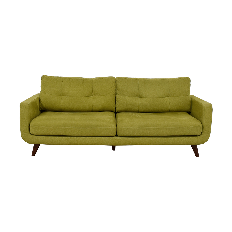 65% OFF - Kinwai Walton Mid Century Yellow Green Sofa / Sofas