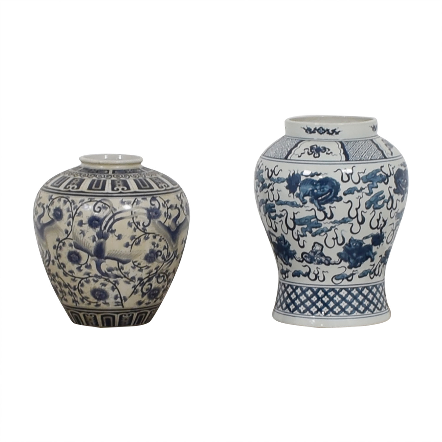 buy Ralph Lauren White and Blue Vases Ralph Lauren