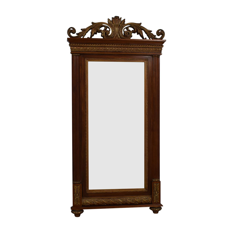 shop Pulanski Wood and Bronze Floor Mirror Pulanski Decor