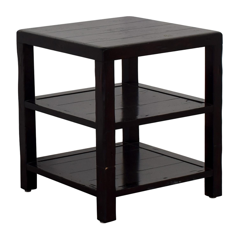 ... Crate U0026 Barrel Crate U0026 Barrel Brown End Table ...