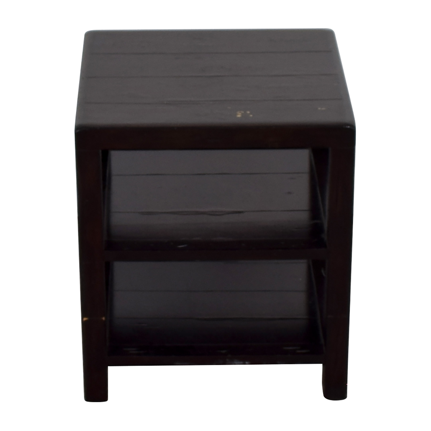 Crate & Barrel Brown End Table / End Tables