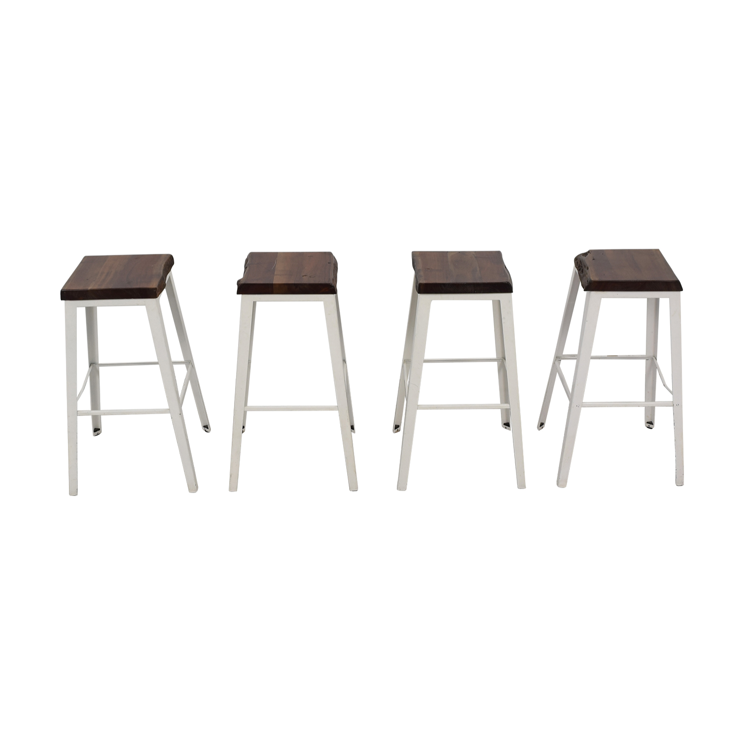 CB2 Wood and Metal Stools sale