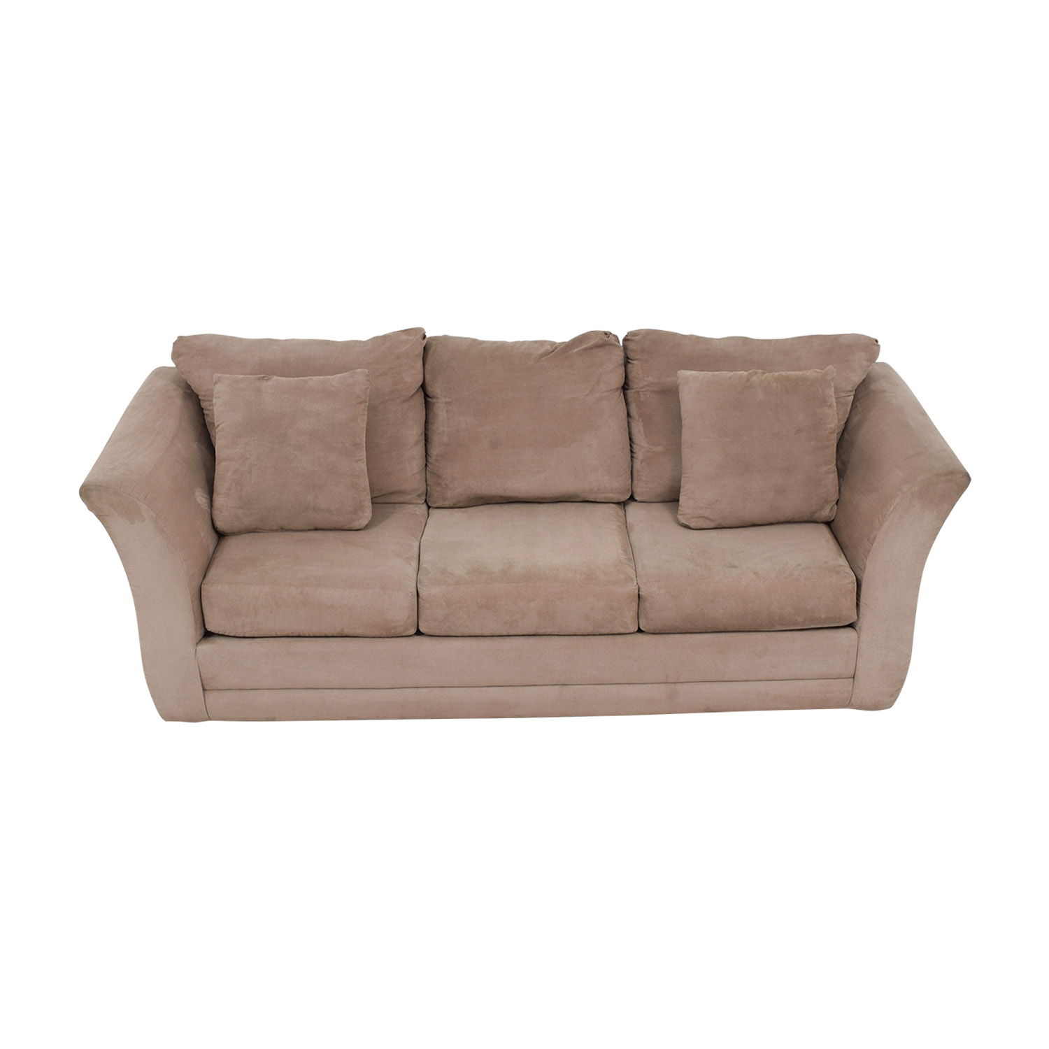 buy Jennifer Furniture Beige Three-Cushion Sofa Jennifer Furniture