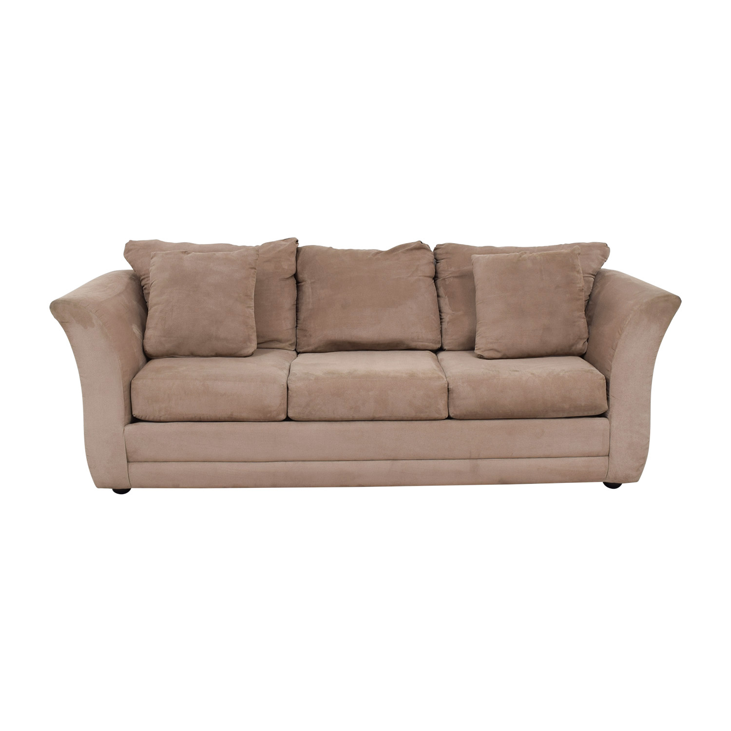 Jennifer Furniture Jennifer Furniture Beige Three-Cushion Sofa second hand