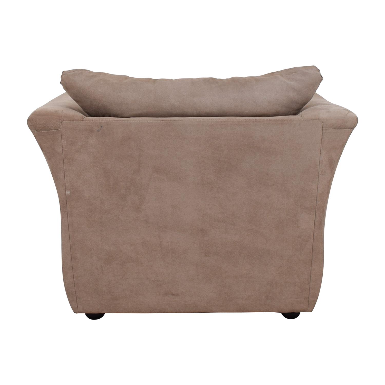 Jennifer Convertibles Jennifer Convertibles Pink Sofa Chair & Ottoman for sale
