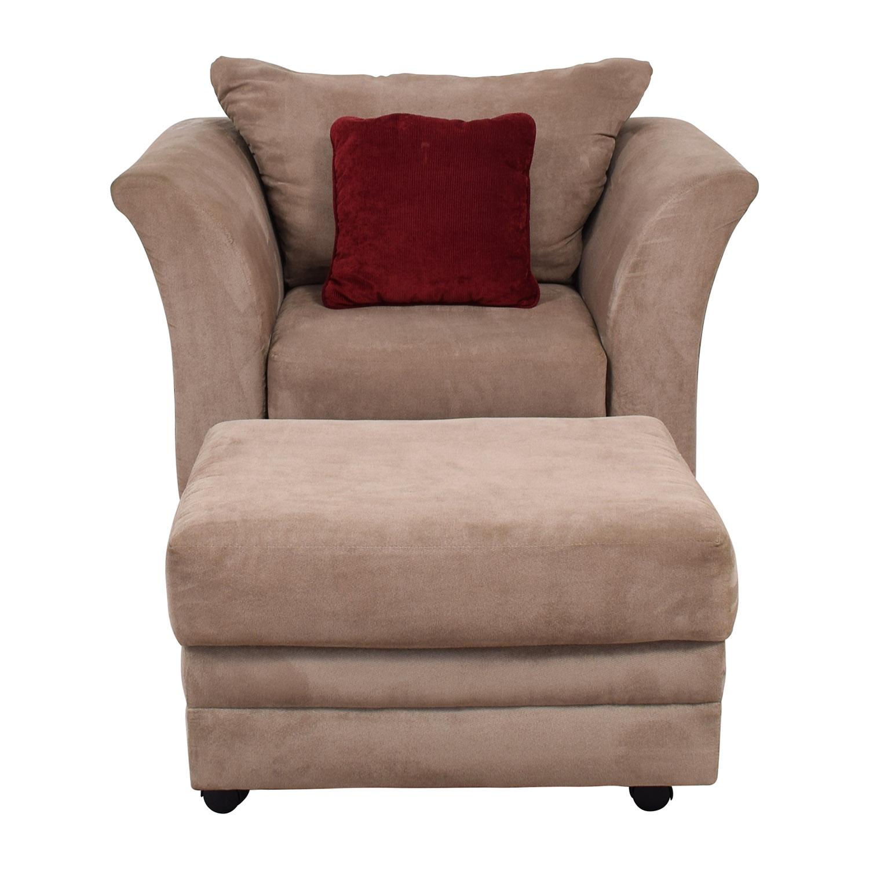 Terrific 66 Off Jennifer Furniture Jennifer Convertibles Pink Sofa Chair Ottoman Chairs Frankydiablos Diy Chair Ideas Frankydiabloscom