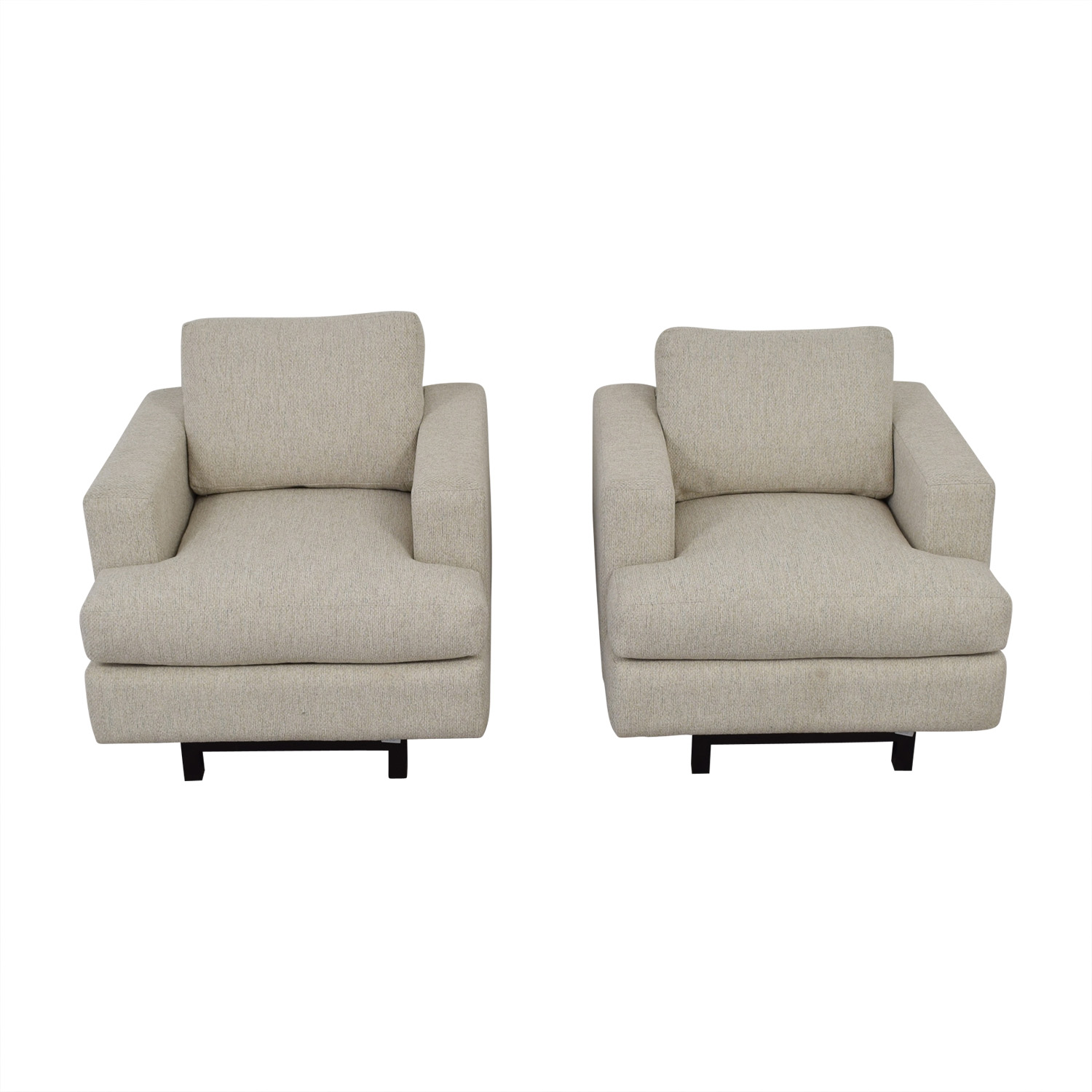 shop Burton James Light Gray Arm Chairs Burton James