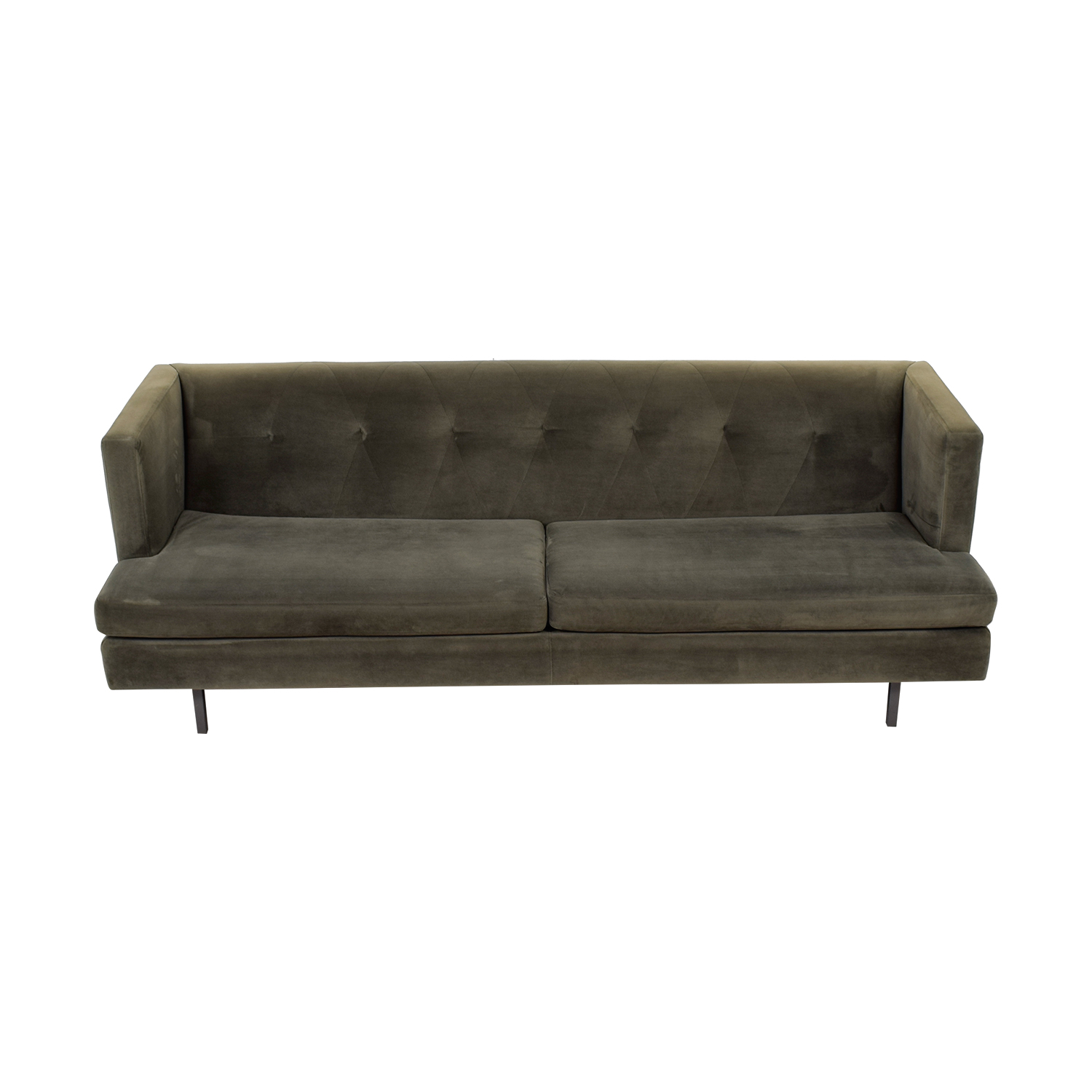 Peachy 64 Off Cb2 Cb2 Avec Grey Velvet Sofa Sofas Pabps2019 Chair Design Images Pabps2019Com