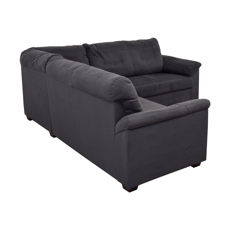 49% OFF - IKEA IKEA Grey L-Shaped Sectional / Sofas