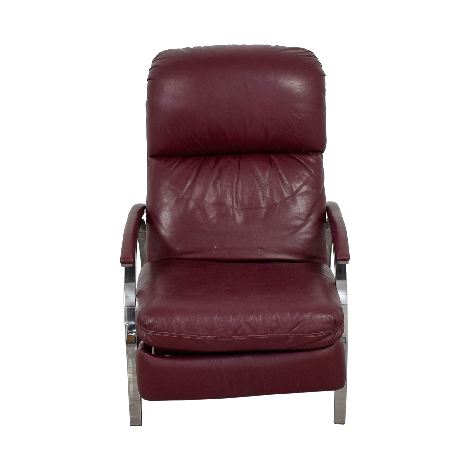 Burgundy Leather Recliner Chair nj