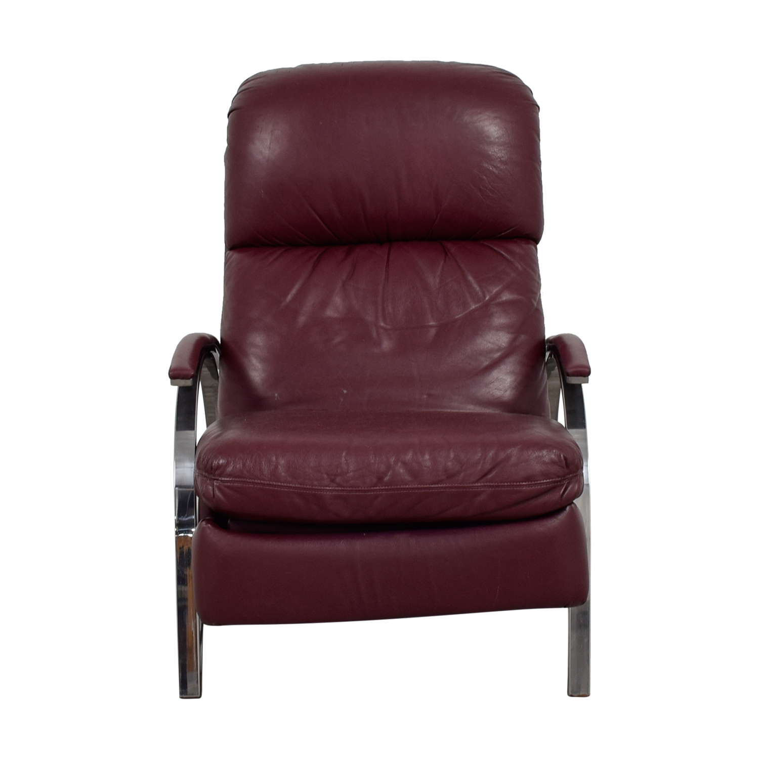 Buy Burgundy Leather Recliner Chair