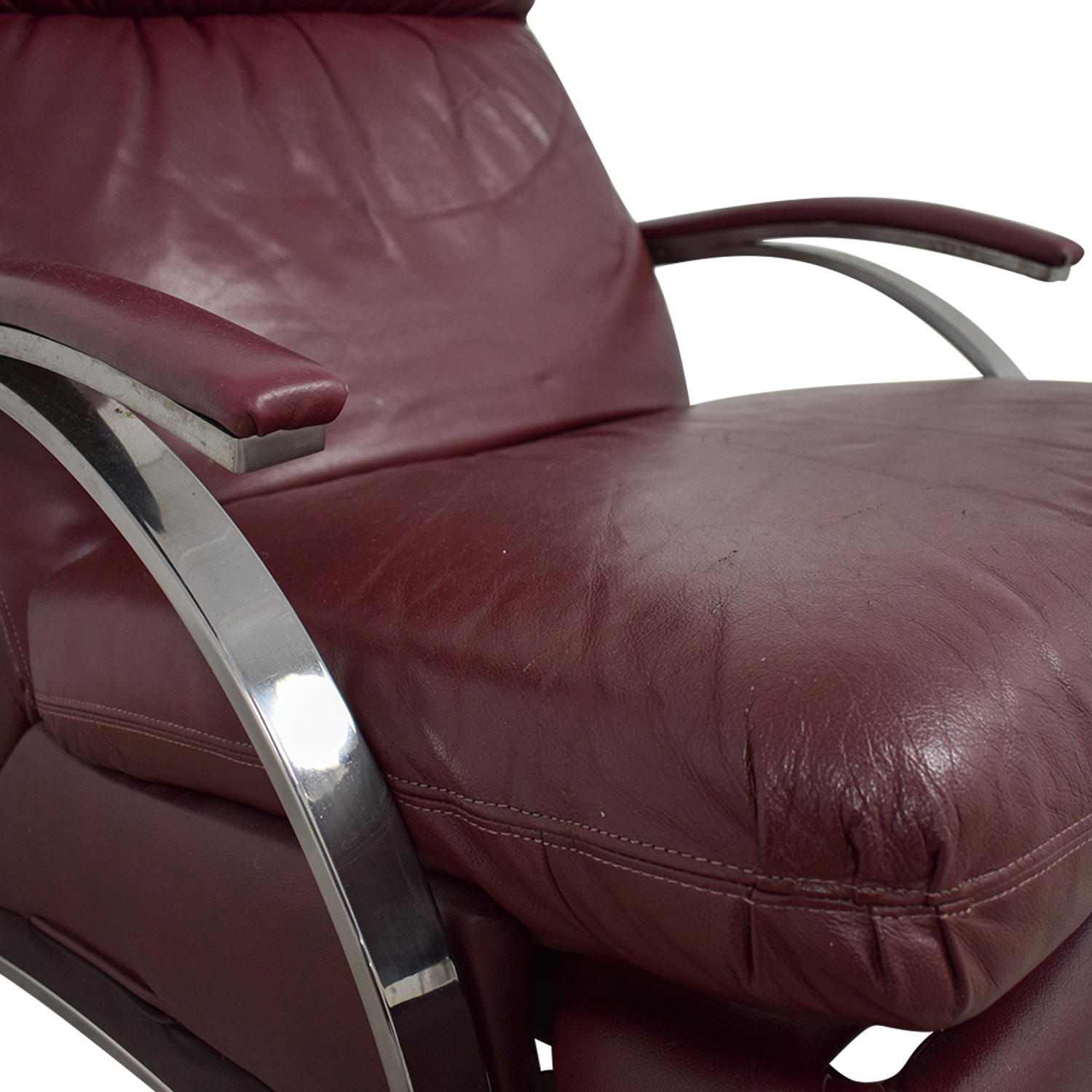 Burgundy Leather Recliner Chair