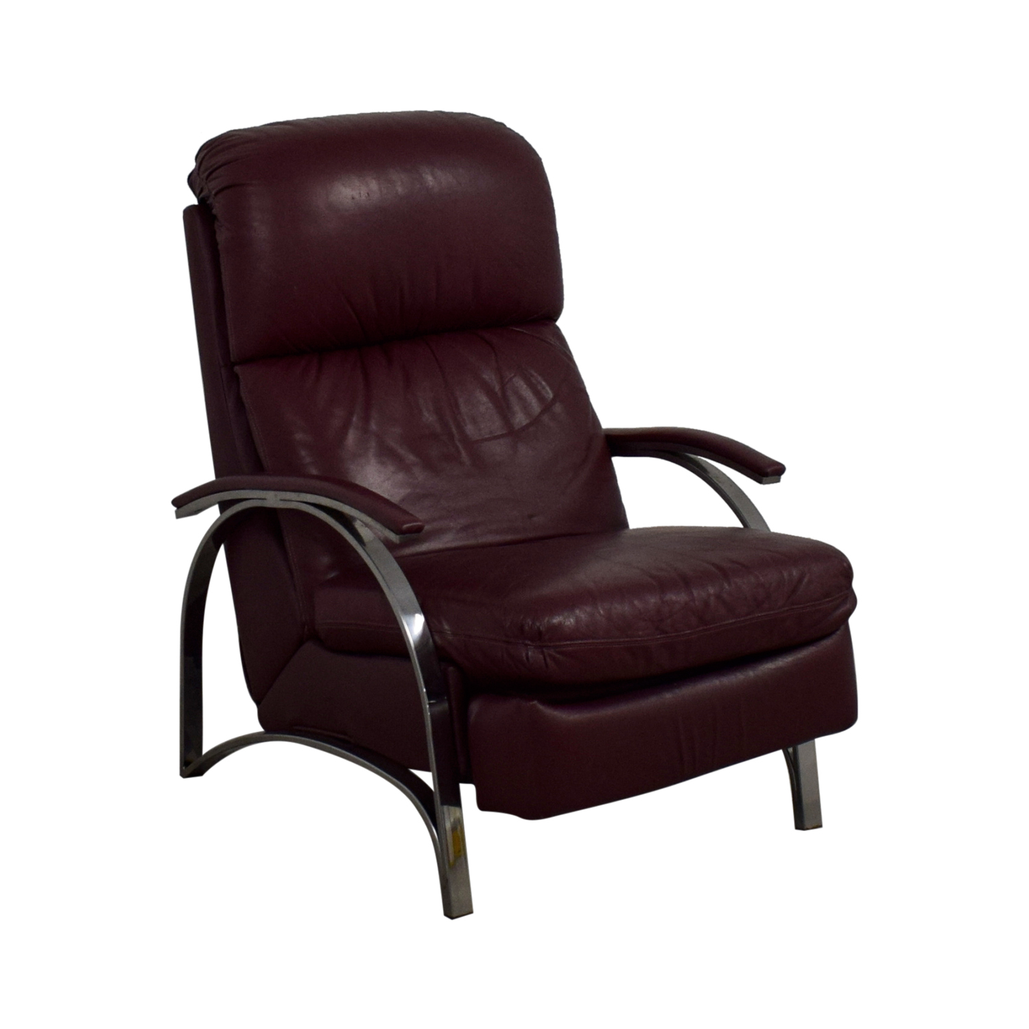 shop Burgundy Leather Recliner Chair  Accent Chairs
