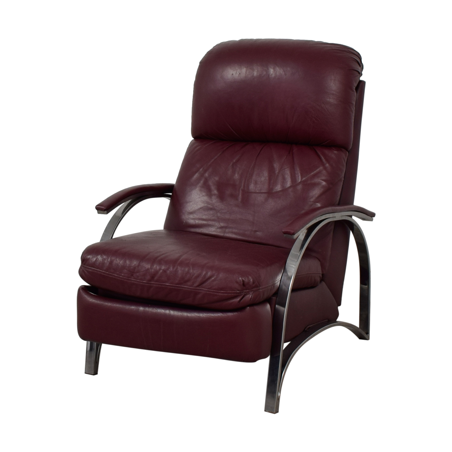 Burgundy Leather Recliner Chair for sale