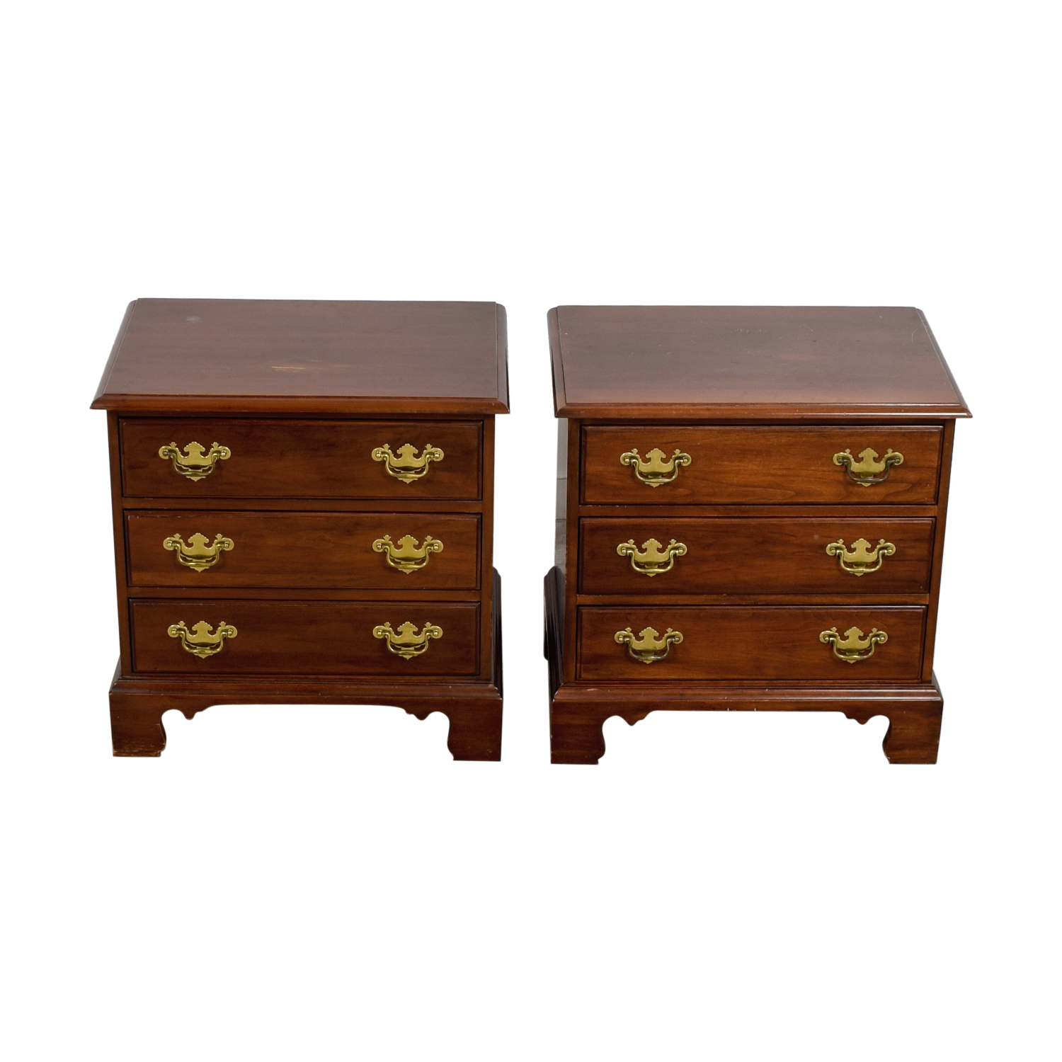 Davis Cabinet Company Davis Cabinet Company Three-Drawer Wood End Tables for sale