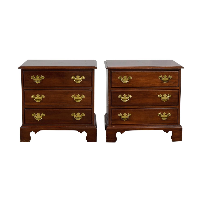 shop Davis Cabinet Company Three-Drawer Wood End Tables Davis Cabinet Company End Tables