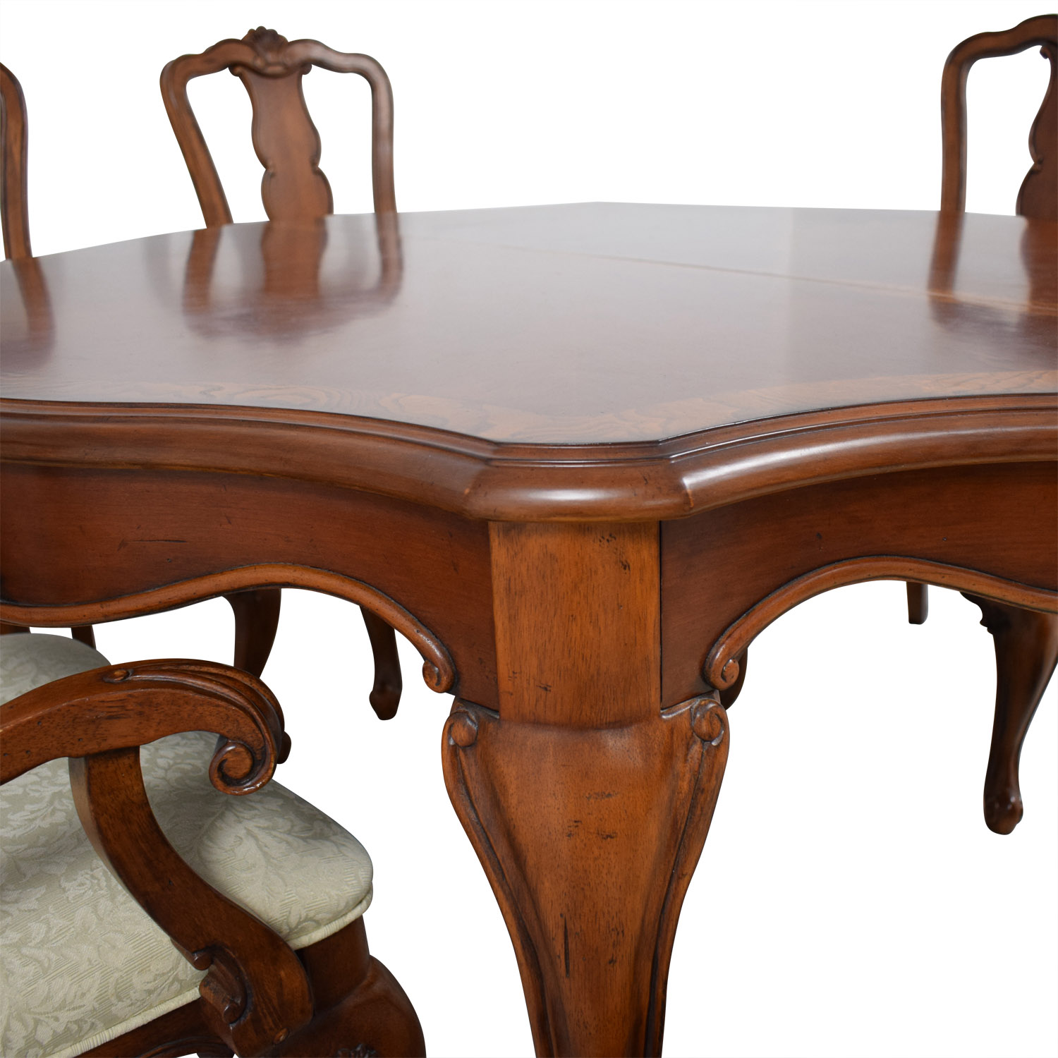 Macy's Macy's Dovetailed Wood Extendable Dining Set