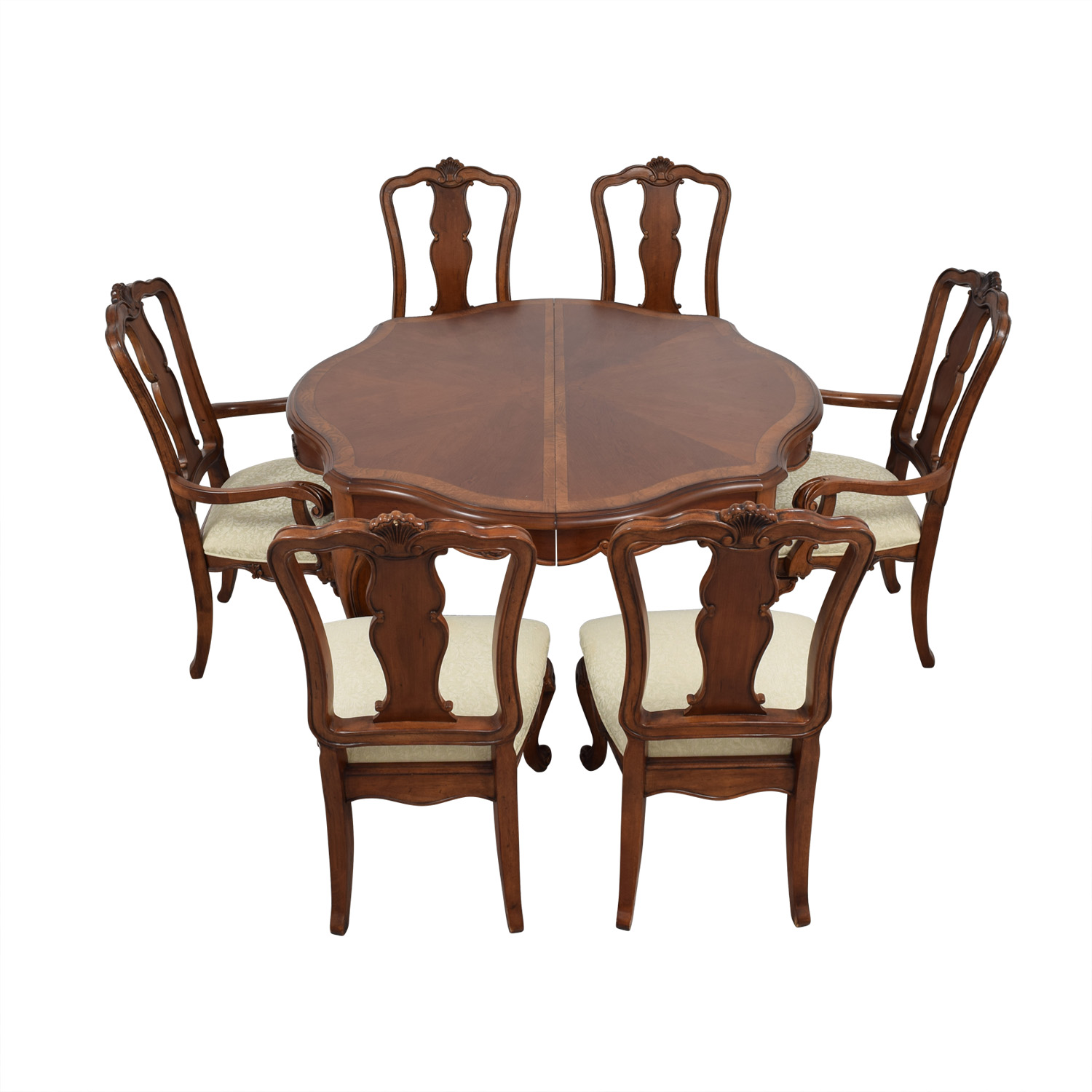 Macy's Dovetailed Wood Extendable Dining Set sale