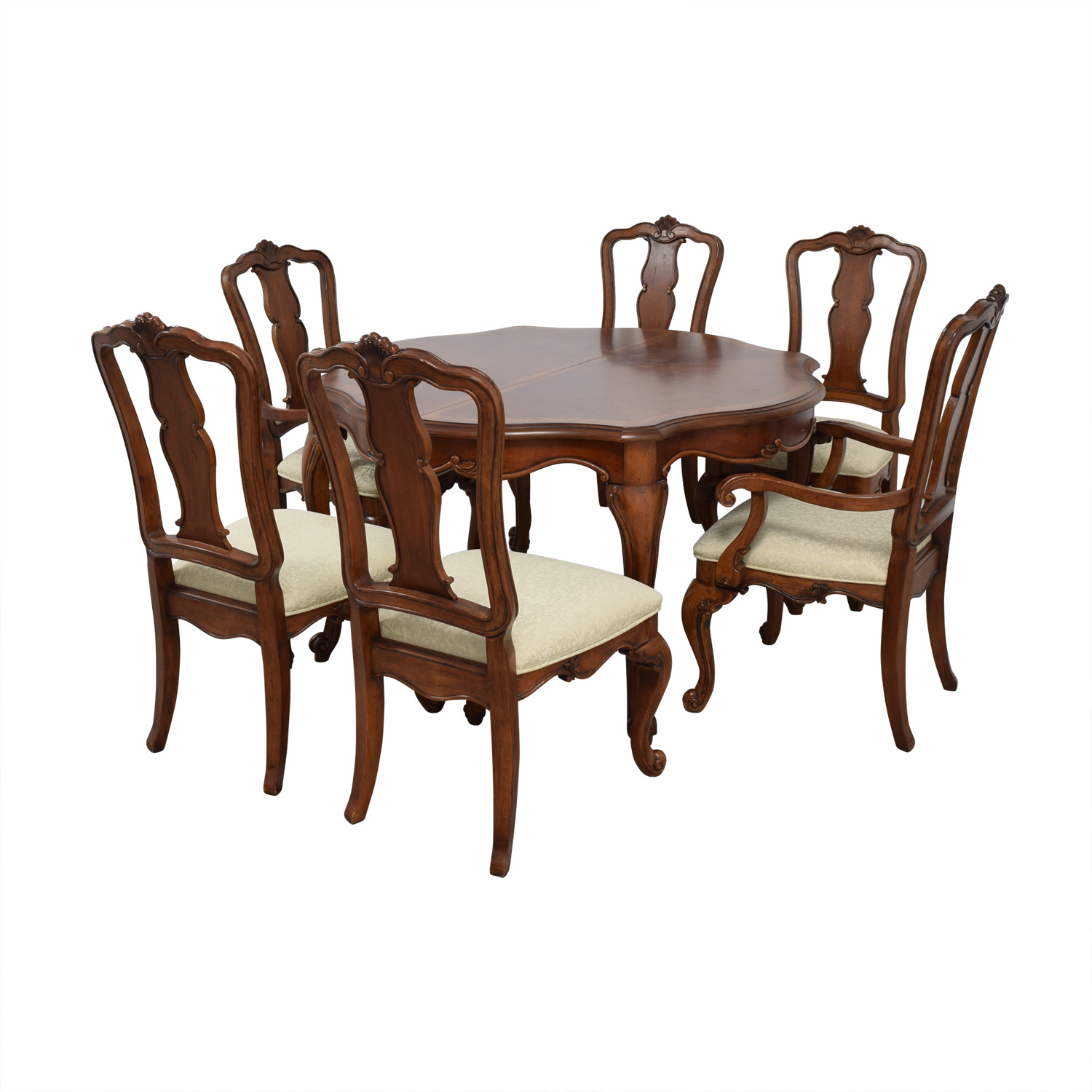 Macy's Macy's Dovetailed Wood Extendable Dining Set nyc