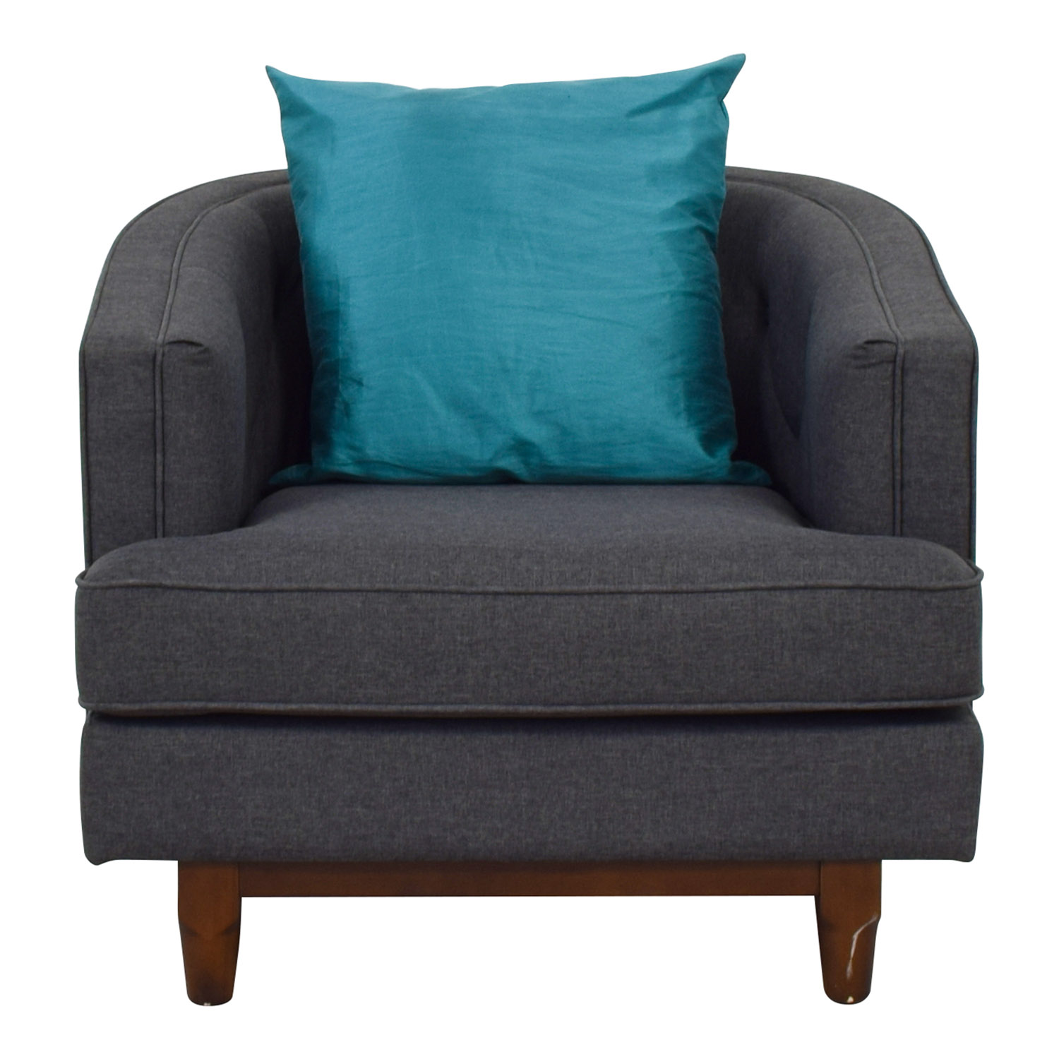 Modway Grey Upholstered Club Chair sale