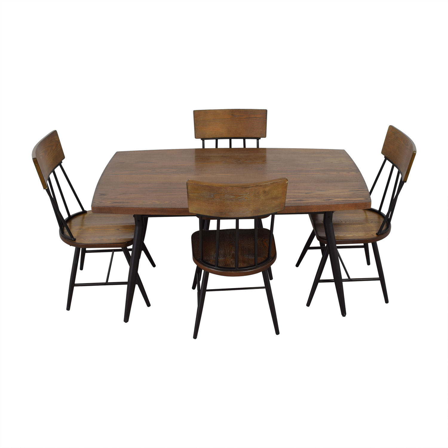 Ashley Furniture Ashley Furniture Wood Dining Room Table and Chair Set discount