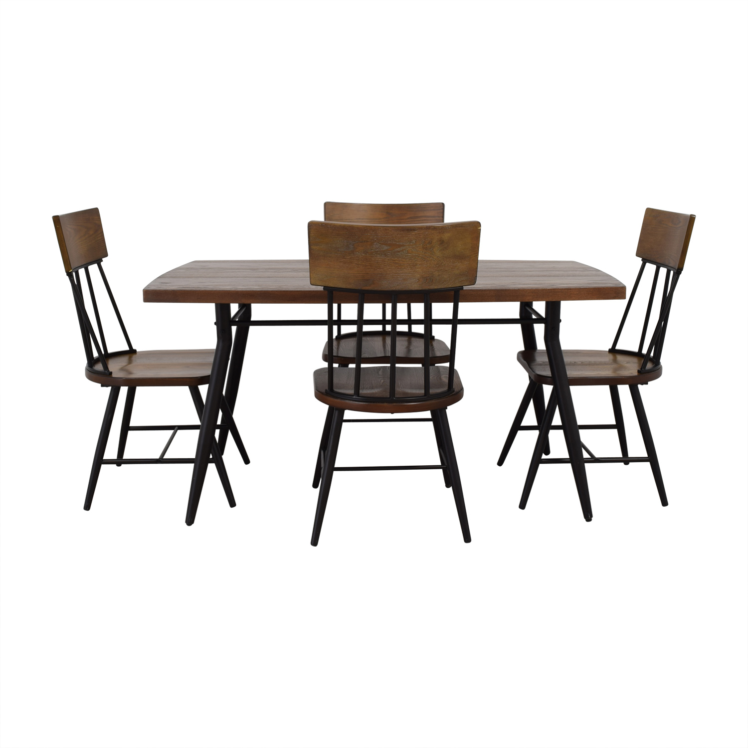Ashley Furniture Ashley Furniture Wood Dining Room Table and Chair Set