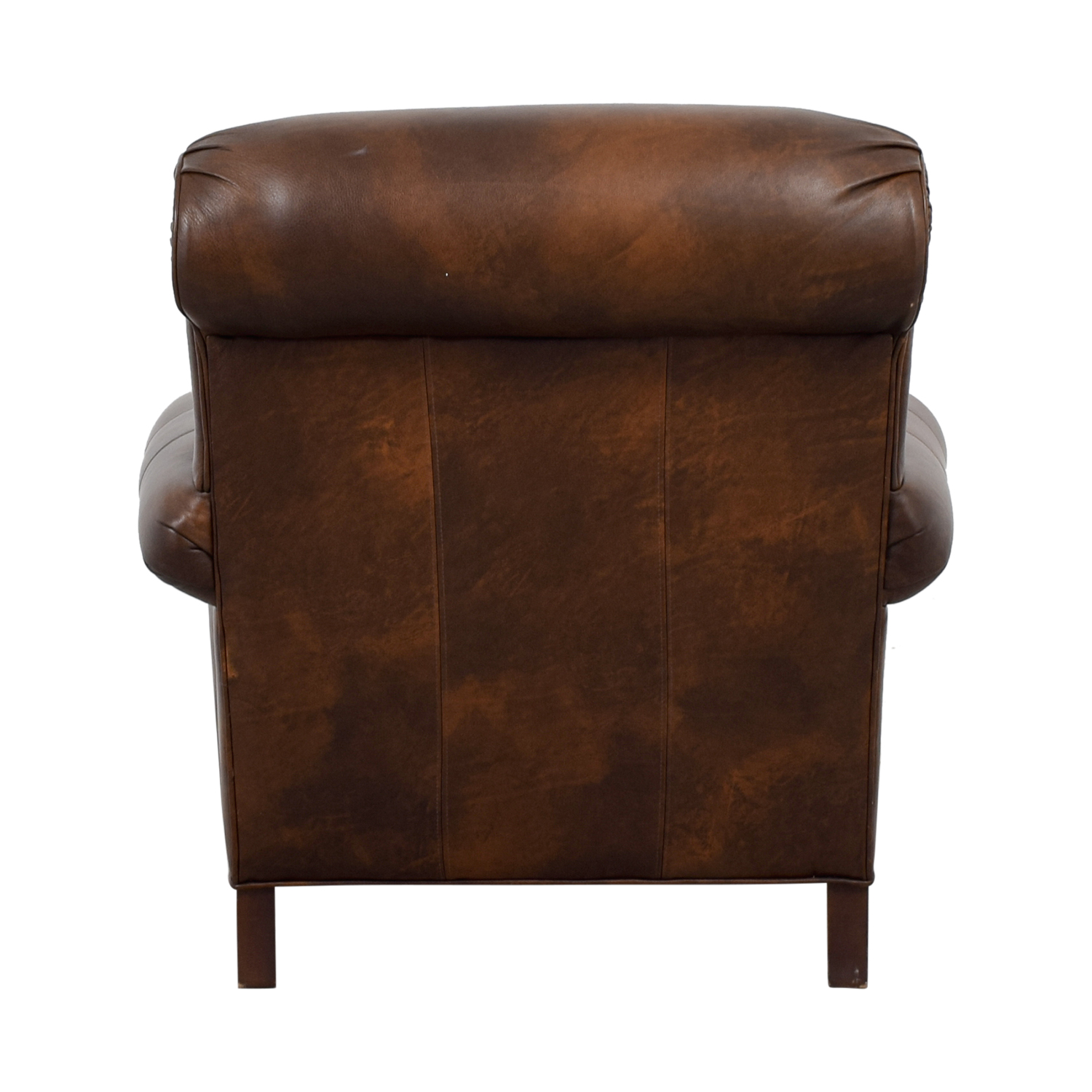 Ethan Allen Ethan Allen Brown Leather Chair & Ottoman nyc