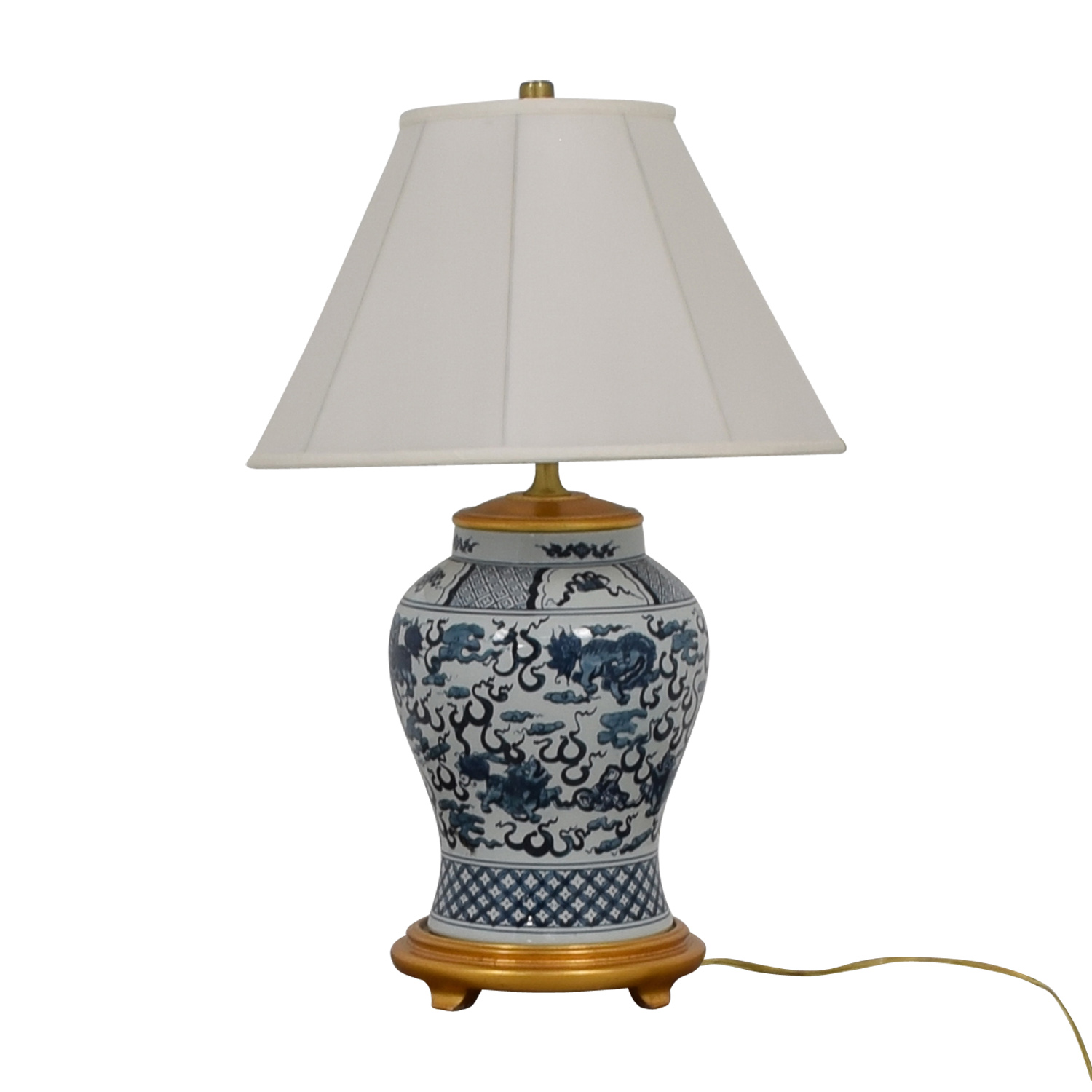 Ralph Lauren Asian Blue and White Table Lamp / Sofas